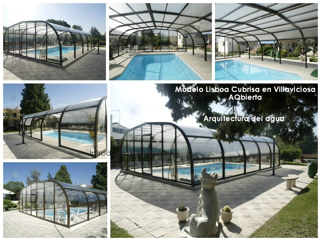 cubierta de piscina alta fija
