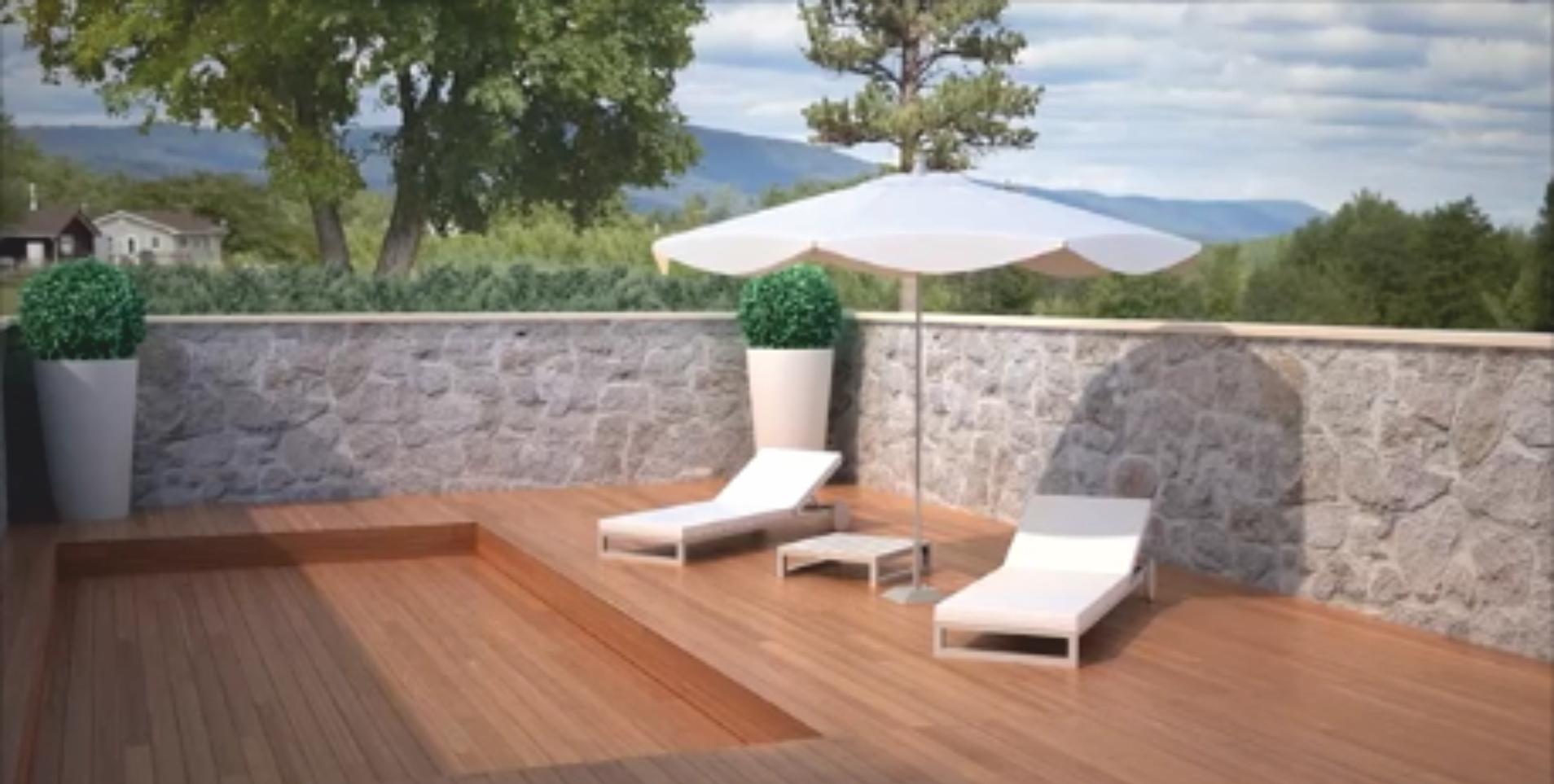 Terrazas m viles cubiertas de piscinas aqbierta for Piscinas de plastico para jardin