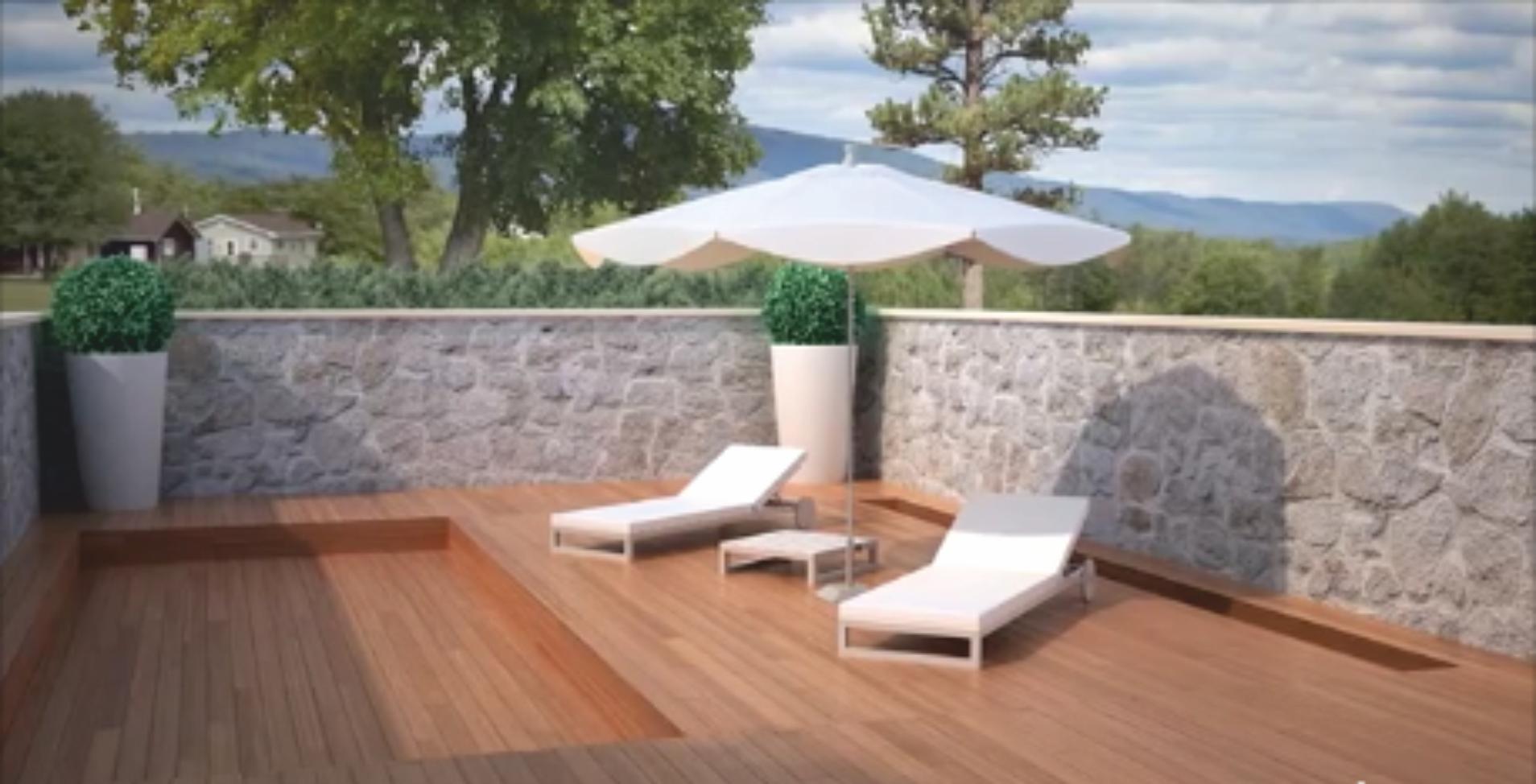 Cubiertas terrazas terraza cubierta con techo movil de - Cubiertas de terrazas ...