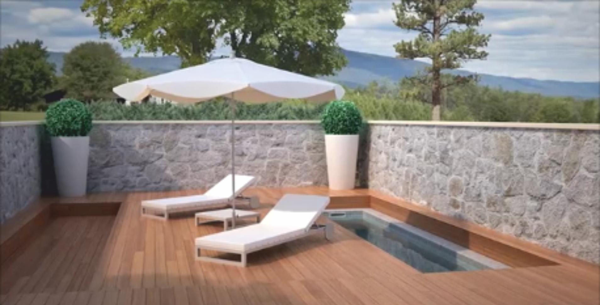 Terrazas m viles cubiertas de piscinas aqbierta for Plataforma para piscina