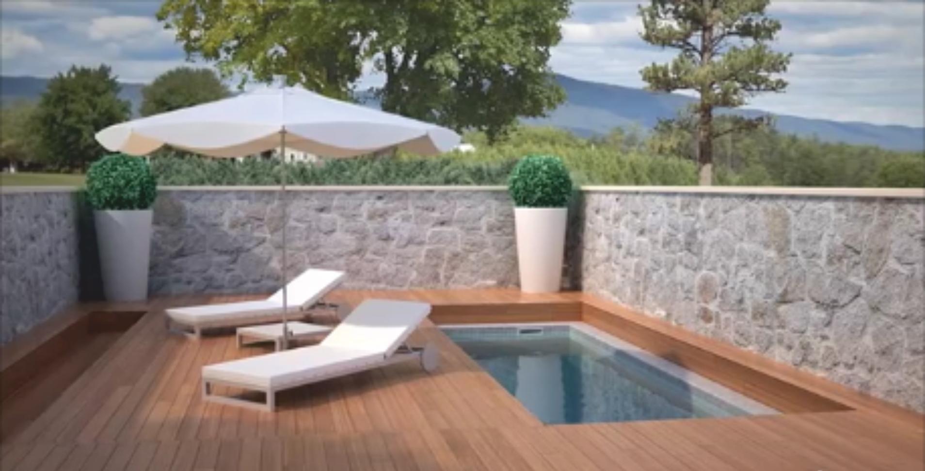 Terrazas m viles cubiertas de piscinas aqbierta - Cubiertas para terrazas ...